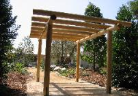 Mitch's custom designed and built outside shade structure, pergula