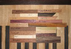 Sample of exotic hardwoods