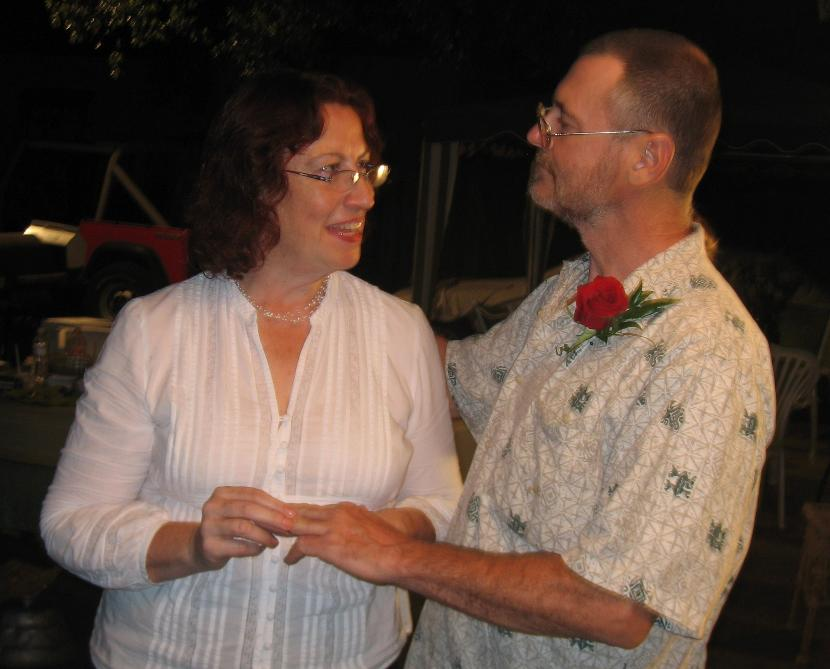 Mary Helen Andrews marries Carl Watts, Artist on Sept t, 2007