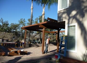 Pergola under construction San Dimas Ca