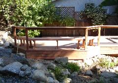 Mitch's custome designed deck and pond arrangement