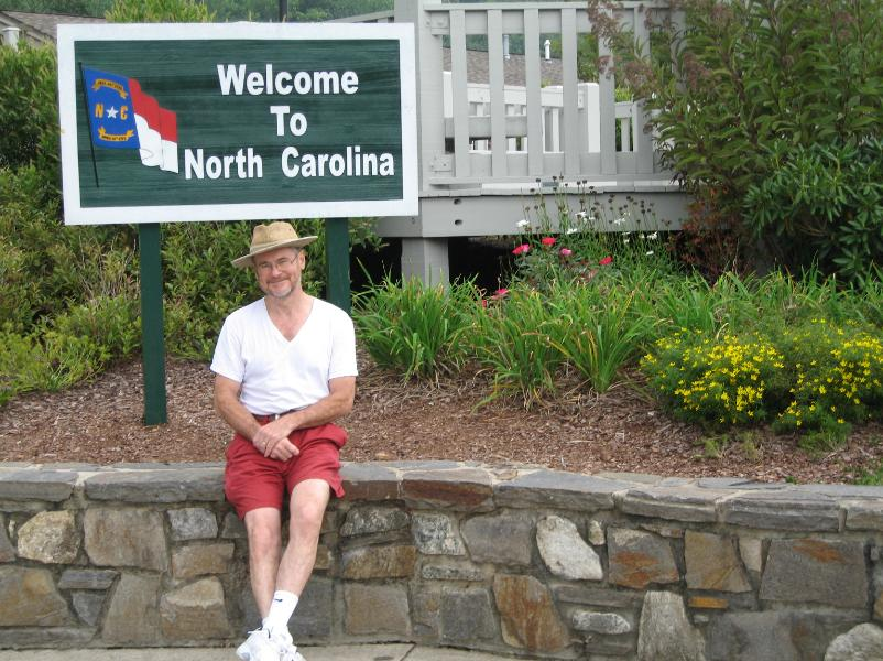 This is Carl at the Edge of the State of North Carolina Sept 2007