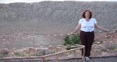 This is Mary Watts standing in front of the great metor crater in Az on our honeymoon Sept 2007